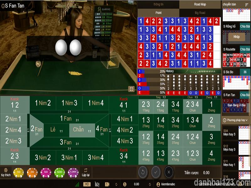 Các bước chơi game Fantan online tại nhà cái casino Fb88