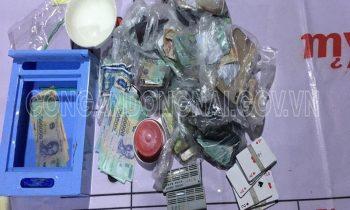 21 đối tượng tại TP. Biên Hòa tổ chức tài xỉu trong chòi lá bị bắt quả tang