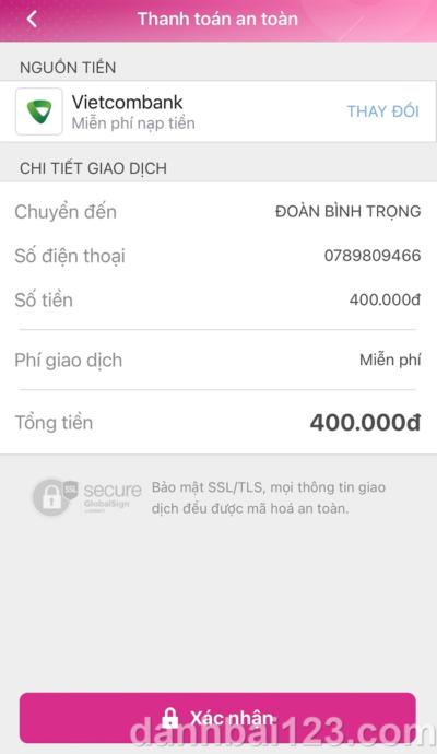 Cách gửi tiền nhanh chóng vào tài khoản Happyluke bằng ví điện tử MoMo
