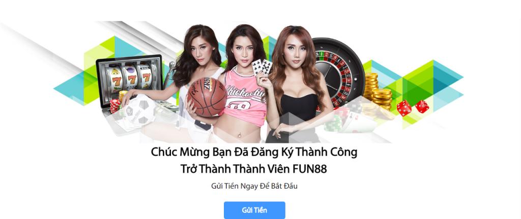 Hướng dẫn các bước đăng ký tài khoản tại Fun88. Nhận tiền thưởng miễn phí